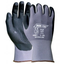 4861 Iron-Tek® Dipped Nitrile/PU Coated with Dots Glove
