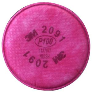 2091 REPLACEMENT P100 PARTICULATE FILTER; 2/PK