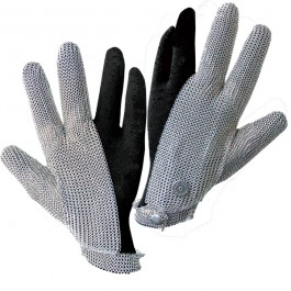 3 Finger Stainless Steel Mesh with Adjustable Snap Closure Glove